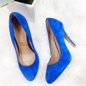 Aldo • Boynton Beach Blue Suede Heels Brand New
